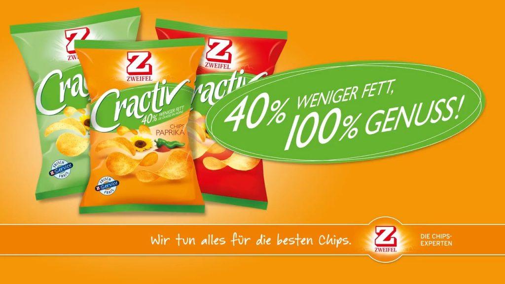 """Product rendering of Zweifel """"Cractiv"""" potato-chips."""