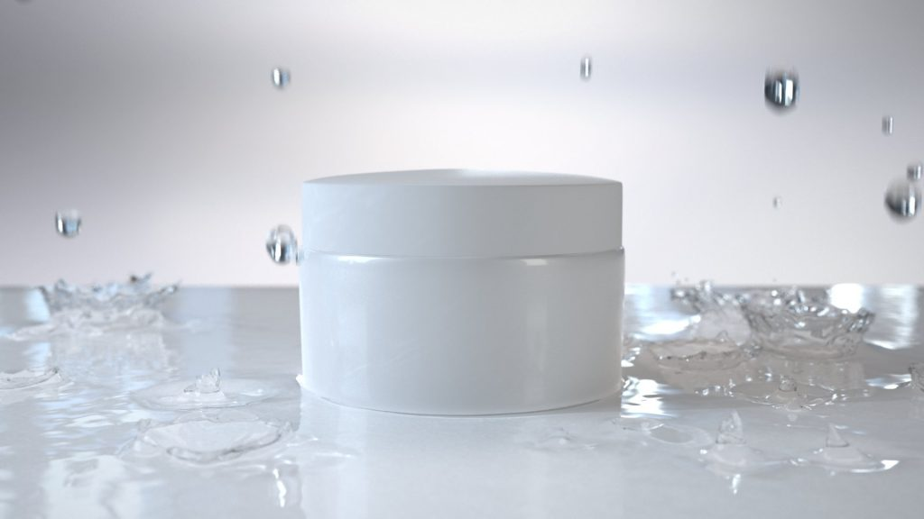 Liquid drops FLIP fluid simulation rendering.