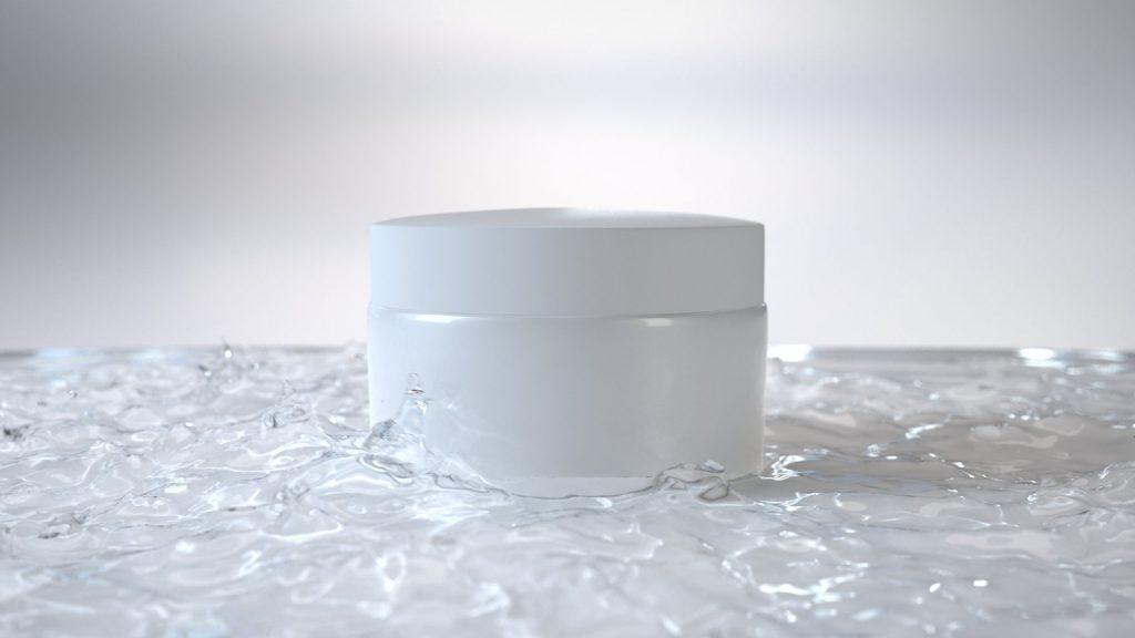 Liquid drops FLIP fluid-simulation rendering.