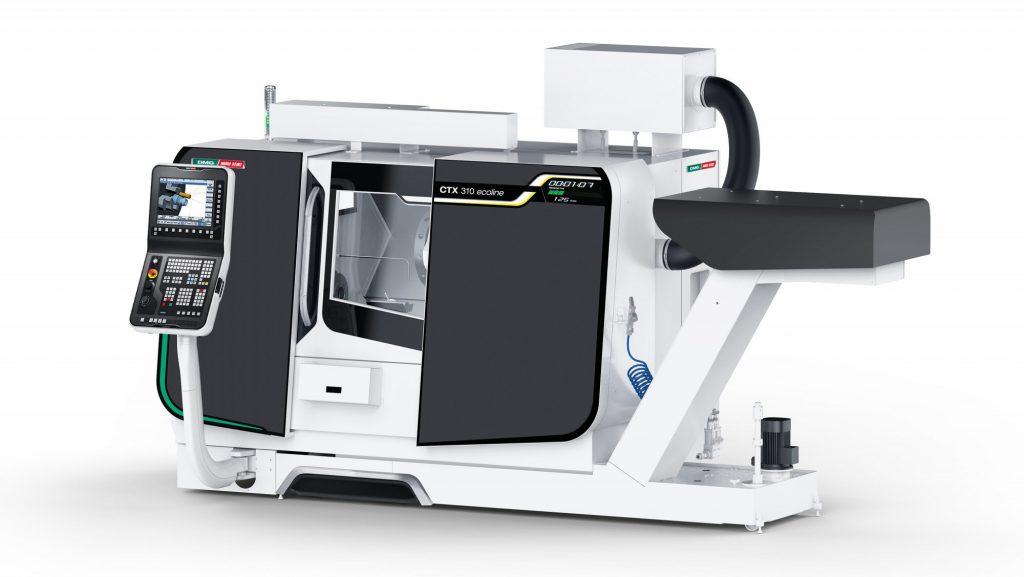 CAD visualisation of a DMG Mori CTX 310 eco milling machine.